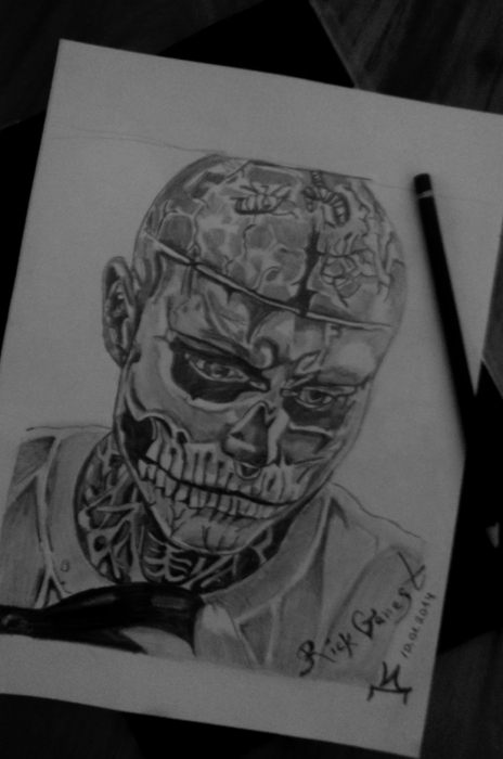 Rick Genest by ivadell